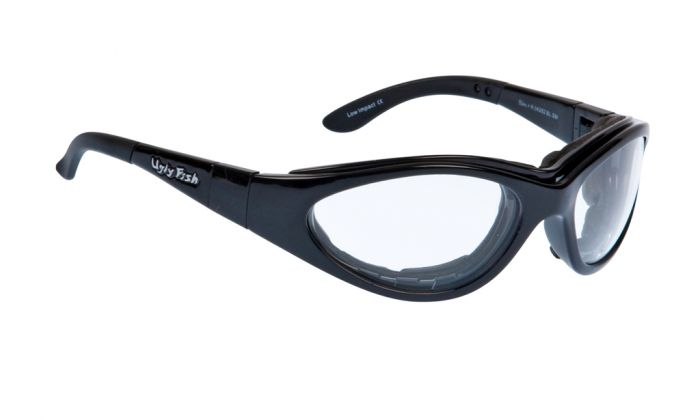 UGLY FISH SLIM RS04282 STANDARD SHINY BLACK FRAME CLEAR LENS
