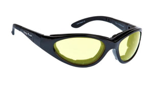 UGLY FISH SLIM RS04282 STANDARD SHINY BLACK FRAME YELLOW LENS