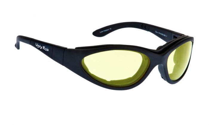 UGLY FISH SLIM RS04282 STANDARD MATT BLACK FRAME YELLOW LENS