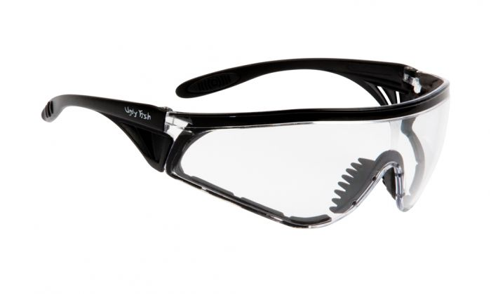 UGLY FISH FLARE WITH VENTED ARMS & POSITIVE SEAL RS5959-V-PS MATT BLACK FRAME CLEAR LENS