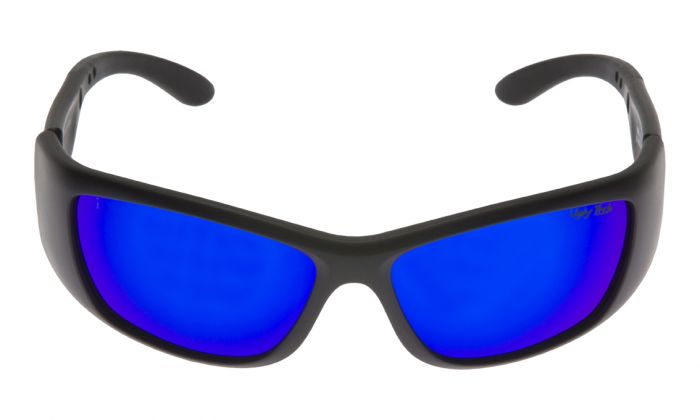 UGLY FISH WARHEAD RS6606X STANDARD MATT BLACK FRAME BLUE REVO LENS