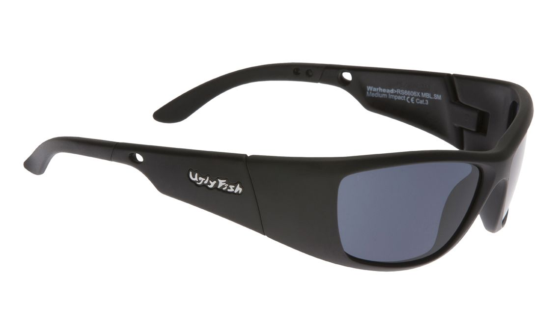 UGLY FISH WARHEAD RS6606X STANDARD MATT BLACK FRAME SMOKE LENS