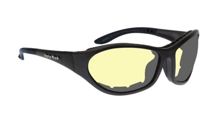5520afcfe9a UGLY FISH CRUIZE RS909 STANDARD MATT BLACK FRAME YELLOW LENS