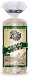 Rice Cakes, Brown, Unsalted, 12 x 8 ozs. by Lundberg