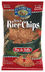 Bean & Rice Chips, Pico de Gallo, 12 x 6 ozs. by Lundberg