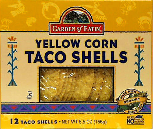 Yellow Corn Taco Shells, 12 x 5.5 ozs. by Garden of Eatin'
