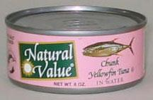 Yellowfin Tuna, Salted, 24 x 6 ozs. by Natural Value