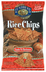 Rice Chips, Santa Fe Barbeque, 12 x 6 ozs. by Lundberg