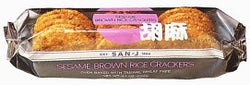 Wheat-free Sesame Brown Rice Cracker, 12 x 3.5 ozs. by San-J