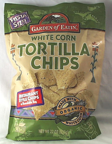 White Corn Tortilla Chips, Fiesta Si, 10 x 22 ozs. by Garden of Eatin'