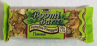Boomi Bars Pistachio Pineapple Bars, 3 x 1.7 ozs. by Boomi Bars
