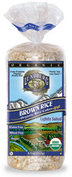 Rice Cakes, Brown, Salted, Organic, 12 x 8 ozs. by Lundberg