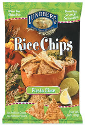 Rice Chips, Fiesta Lime, 12 x 6 ozs. by Lundberg