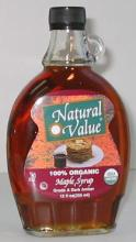 NV Maple Syrup, Grade B, Organic, 12 x 32 ozs. by Natural Value