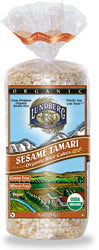 Toasted Sesame Rice Cakes, 12 x 8 ozs. by Lundberg