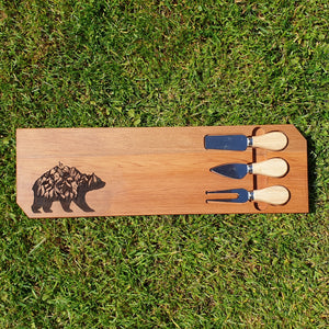 Mountain Bear Rimu Art Platter