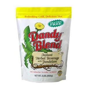 Dandy Blend Instant Herbal Coffee Substitute with Dandelion - 6 x 2 lbs
