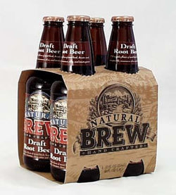 Natural Brew Draft Root Beer - 4 x 12 ozs.