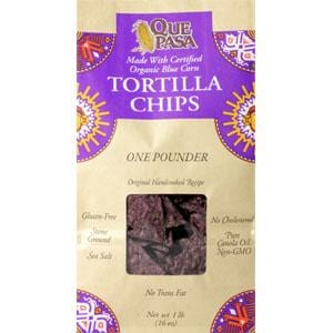 Que Pasa Blue Tortilla Chips - 12 x 1 lb.