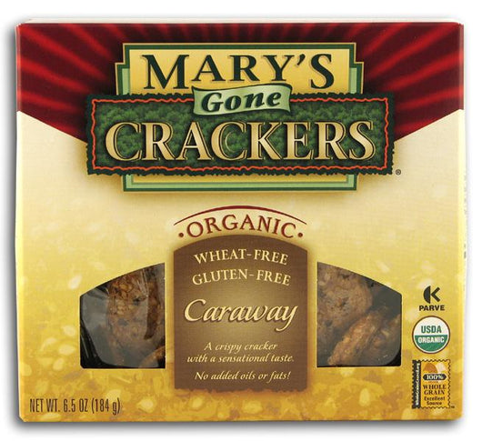 Mary's Gone Crackers Caraway Crackers Organic - 6.5 ozs.
