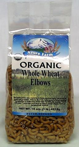 Azure Farm Whole Wheat Elbows Organic - 4 x 16 ozs.