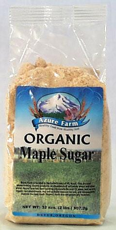Azure Farm Maple Sugar Organic - 4 x 32 ozs