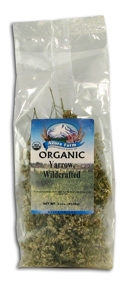 Azure Farm Yarrow, Wildcrafted, Organic - 3 ozs.