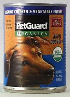 PetGuard Dog Food Chicken & Veg. Entree Adult Organic - 12 x 12.7 ozs.