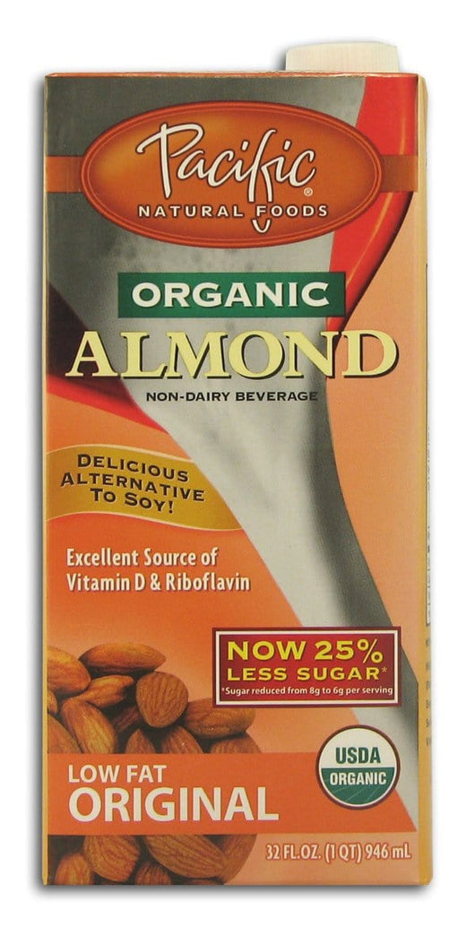Pacific Foods Almond Beverage Low Fat Original - 32 ozs.