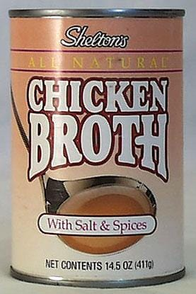 Shelton Chicken Broth Regular - 12 x 14.5 ozs.