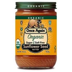 Once Again Nut Butter, Inc. Sunflower Butter, Sugar & Salt Free, Organic - 12 x 16 ozs.