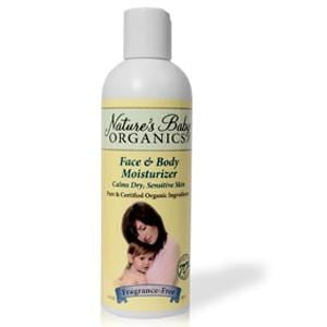 Nature's Baby Organics Face & Body Moisturizer, Fragrance Free, Organic - 12 x 8 ozs.