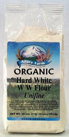 Azure Farm Hard White W.W. Flour (Unifine) Organic - 28 ozs.