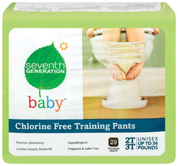 Seventh Generation Training Pants 2T-3T (up to 34 lbs) - 4 x 25 ct.