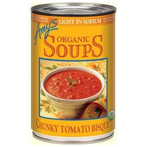 Amy's Chunky Tomato Bisque Soup, Light in Sodium, Organic - 14.5 ozs.