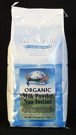 Azure Farm Milk Powder Non-Instant Non-Fat Organic - 5 lbs.