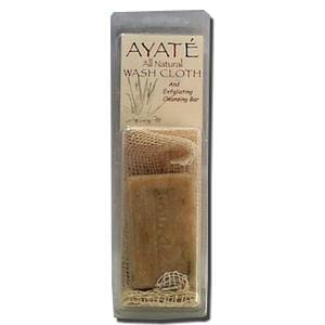 Deodorant Stones of America Ayate Washcloth with Seaweed Soap - 3.5 ozs.
