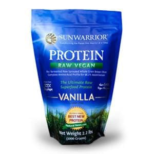Sunwarrior Protein Powder, Vanilla, Raw, Vegan - 2.2 lbs.