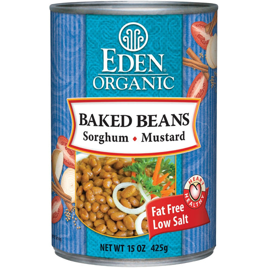 Eden Foods Baked Beans with Sorghum & Mustard Organic - 12 x 15 ozs.