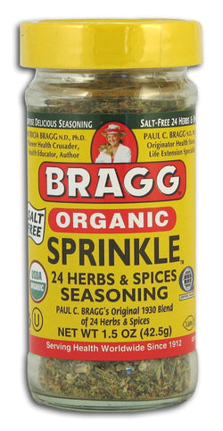 Bragg's Sprinkle Herbs & Spices Seasoning - 12 x 1.5 ozs.