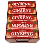 Prince of Peace Korean Lotte Ginseng Chewing Gum 25 packs of 5 sticks