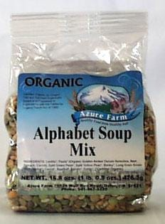 Azure Farm Alphabet Soup Mix Organic - 8 x 16.8 ozs.