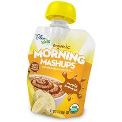 Plum Organics Morning Mashup Maple Banana, Organic  - 6 x 12.68 oz