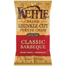 Kettle Foods Potato Chips, Classic Barbeque, Krinkle Cut - 10 x 14 ozs.