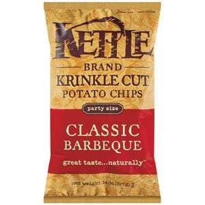 Kettle Foods Potato Chips, Classic Barbeque, Krinkle Cut - 14 ozs.