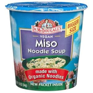 Dr. McDougall's Right Foods Big Soup Cups, Miso Noodle, with Organic Noodles - 6 x 1.9 ozs.
