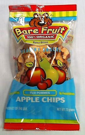 Bare Fruit Apple Chips Fuji Organic - 2.2 ozs.