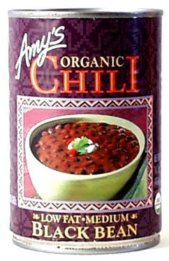 Amy's Black Bean Vegetable Chili Organic - 12 x 14.7 ozs.