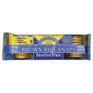 Edward & Sons Brown Rice Snaps Plain No Salt - 3.5 ozs.