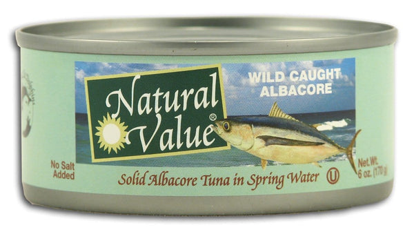 Natural Value Albacore Tuna No Salt - 6 ozs.
